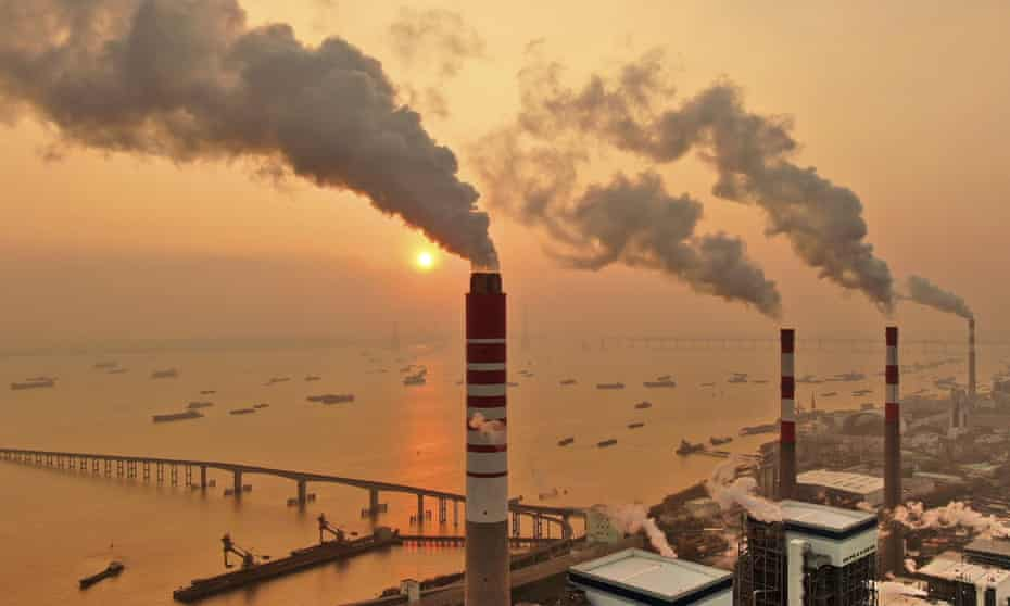 A coal plant in Nantong in China, which is responsible for more than half of the world's coal plant plans.