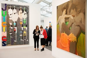 the David Zwirner gallery area at Frieze.