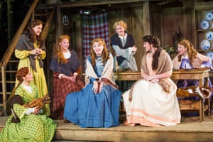 Laura Pitt-Pulford (Milly), centre, in Seven Brides For Seven Brothers. 2015