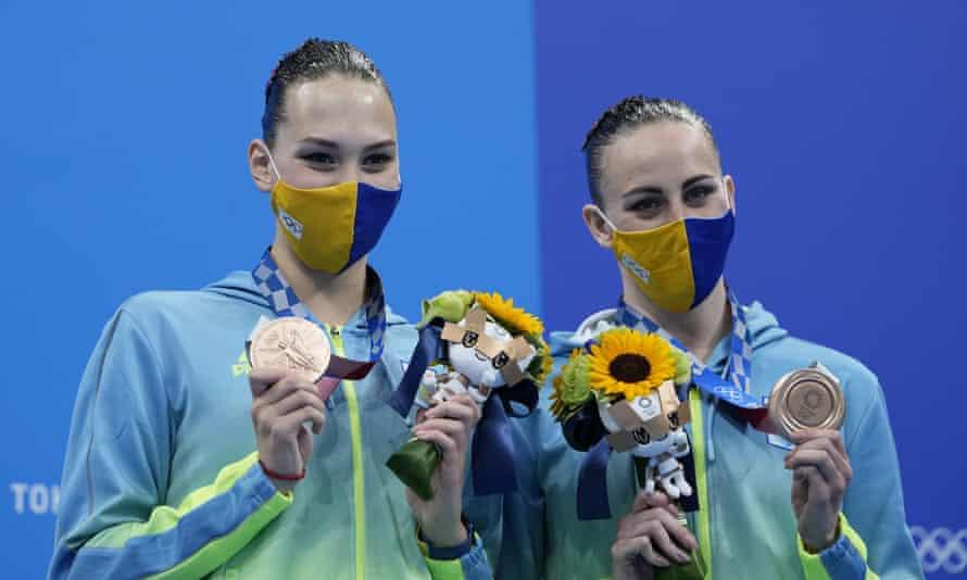 Ukraine's Marta Fiedina and Anastasiya Savchuk