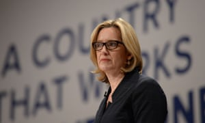 Amber Rudd addressing the Conservative conference.
