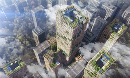 Japan's Sumitomo Group hopes to use CLT to build a 70-storey tower in Tokyo.