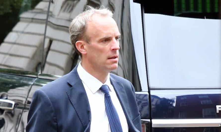 Dominic Raab, the foreign secretary
