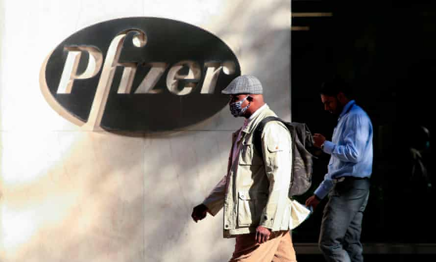 Pfizer world headquarters in New York.
