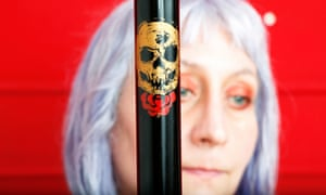 An artist added a skull and rose to Anderson's stick