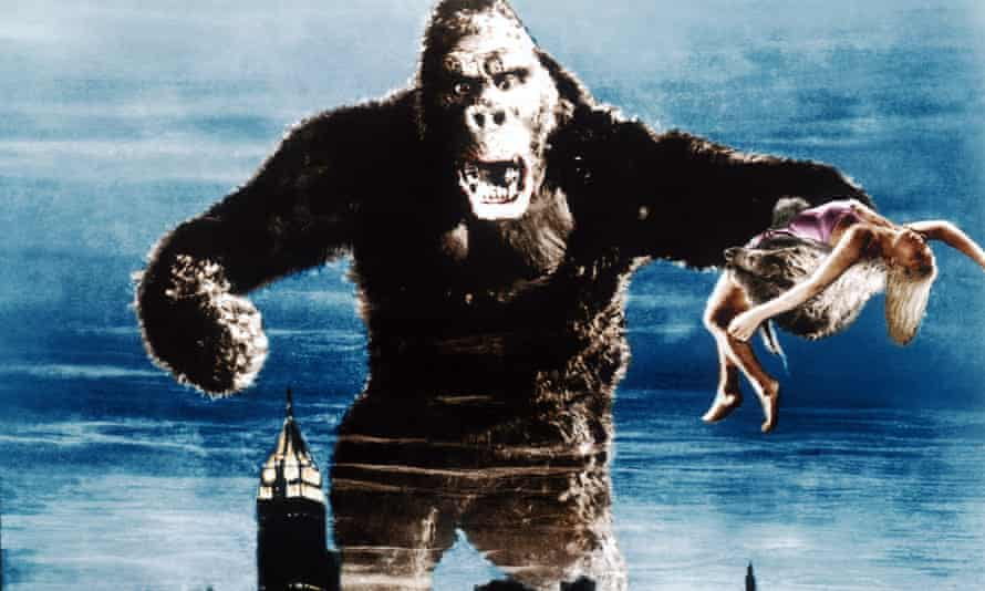 The Gigantopithecus stood an estimated 3m tall, leading to comparisons with the fictional character King Kong.