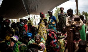 Internally displaced women and children in the DRC
