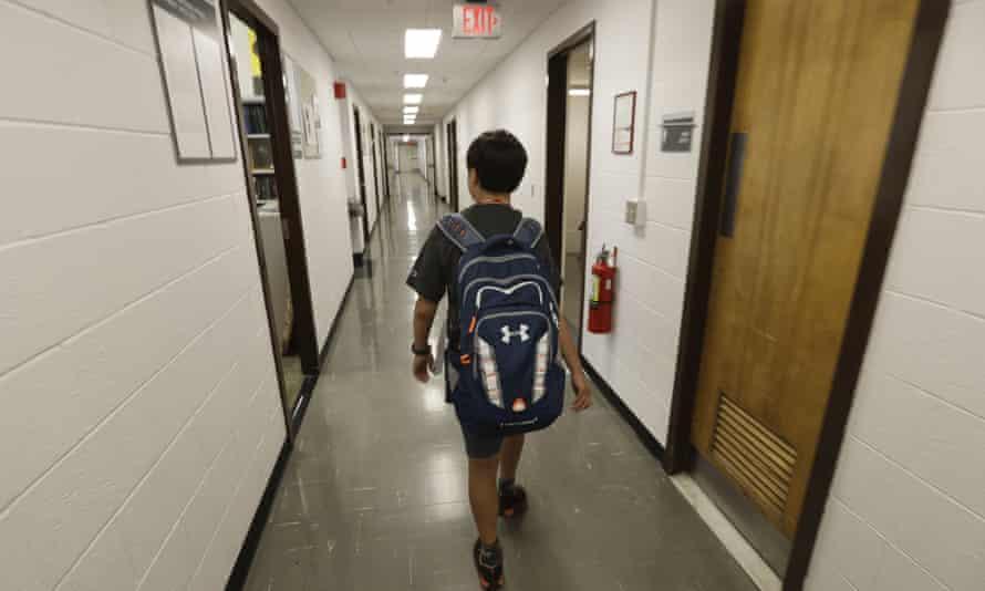 Jeremy Shuler walks to meet an advisor on campus in Ithaca, N.Y.