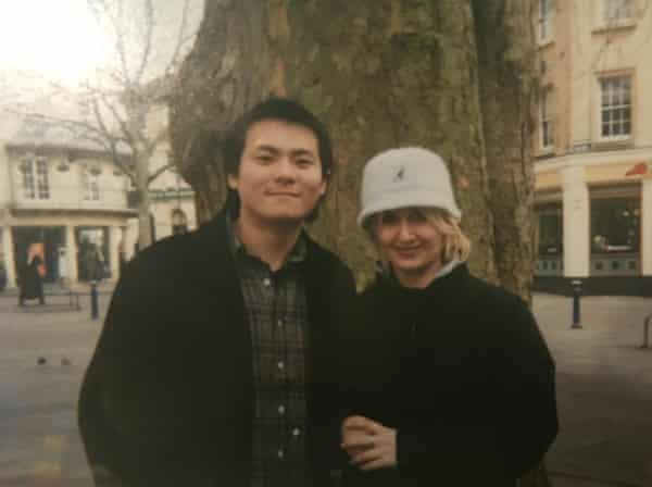 Ray and Helen in Bath in 2002
