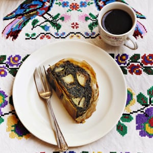 Poppy-seed, pecan and apple strudel by Olia Hercules