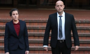 Mary Ellen Bettley-Smith and Benjamin Monk outside court