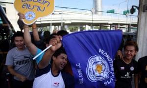 Leicester City fans in Bangkok