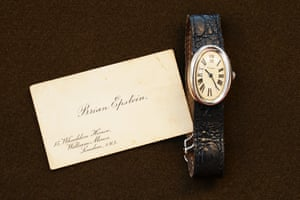 Brian Epstein's Cartier watch and business cardEstimate: - watch: £15,000-£25,000- card: £800-£1,200