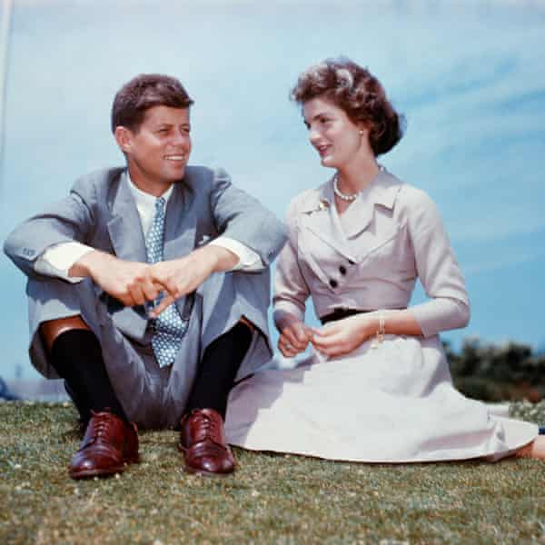 Jack Kennedy and Jacqueline Bouvier in 1953, a few months before their wedding.