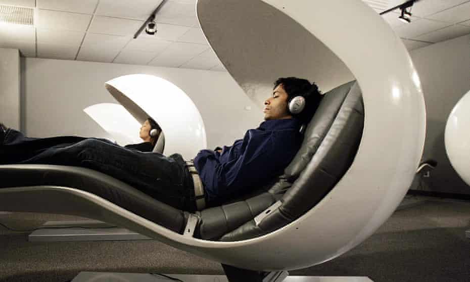 People in sleeping pods