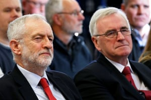 The Labour party leader Jeremy Corbyn and the shadow chancellor John McDonnell.
