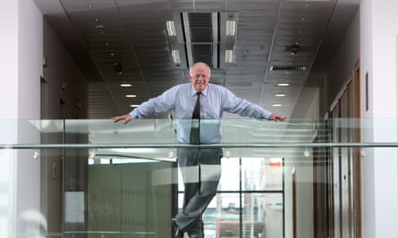Peter Hargreaves at his Hargreaves Lansdown financial services office in Bristol, in 2011.