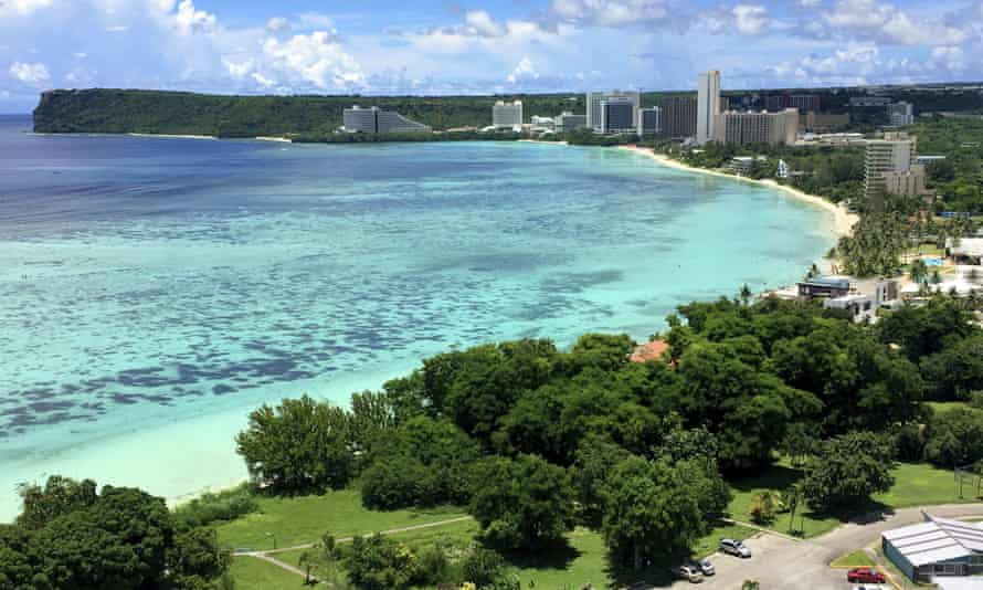 Tumon Bay near Hagåtña, Guam. The US has launched a lottery with prizes for Covid-19 vaccine recipients.