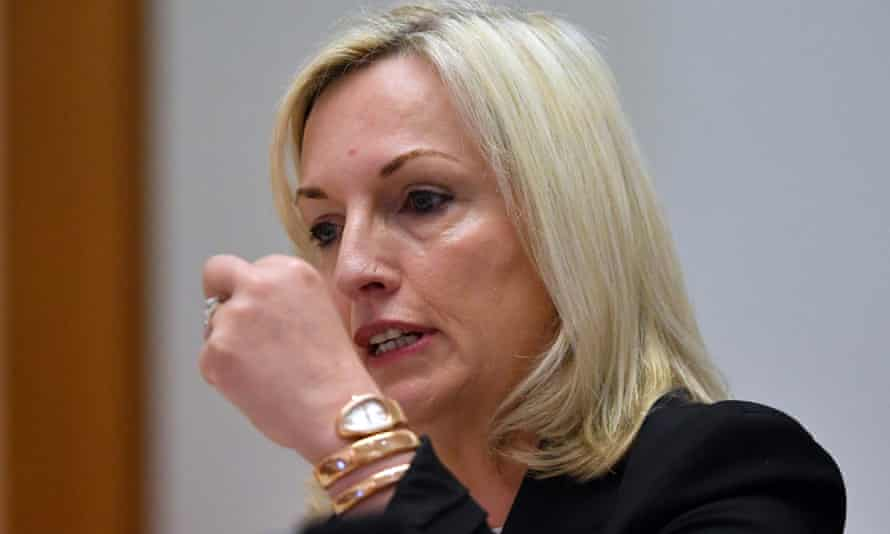 Christine Holgate appears before a Senate estimates hearing in Canberra, 22 October 2020