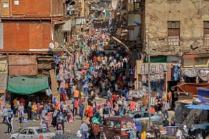 Outdoor market in central Cairo on 4 May