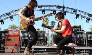 Carrie Brownstein, right, with Wild Flag at the Coachella festival, 2012.