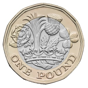 Scottish version of the new £1 coin