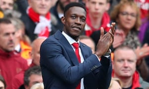 Danny Welbeck says goodbye to the Emirates crowd – he had not played for the club since November.