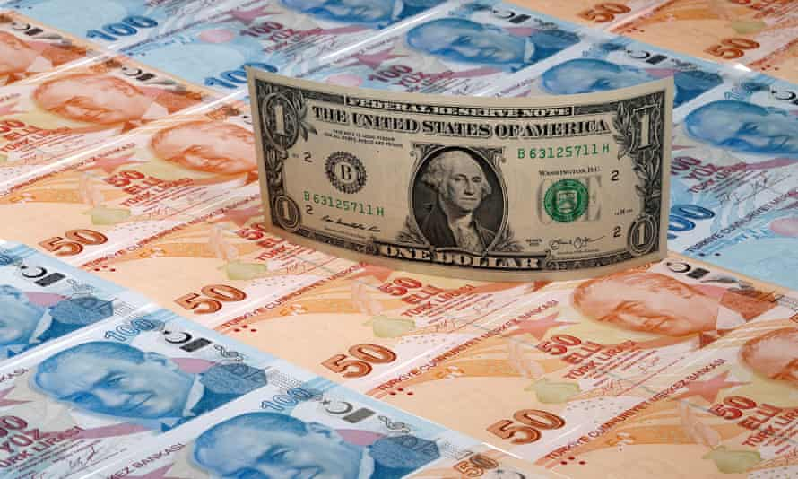 The Turkish lira hit an all-time low of 7.2 to the US dollar on Monday. It has since bounced back