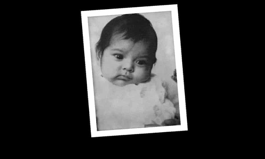 Maria Diemar's passport photo, taken when she was two months old.