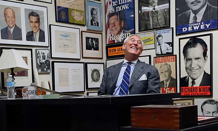 Roger Stone, pictured at his office in Fort Lauderdale, Florida: 'Politics is a contact sport.'