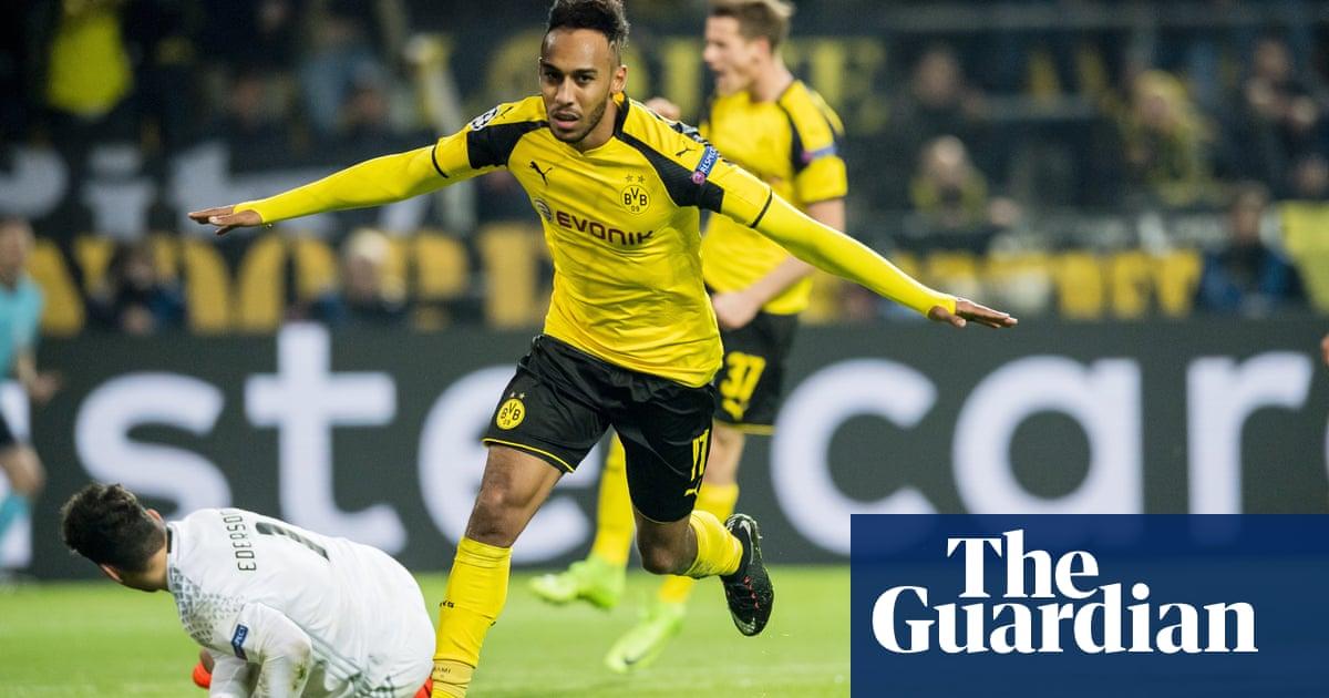 a828b4d58 Pierre-Emerick Aubameyang hat-trick helps Borussia Dortmund crush Benfica