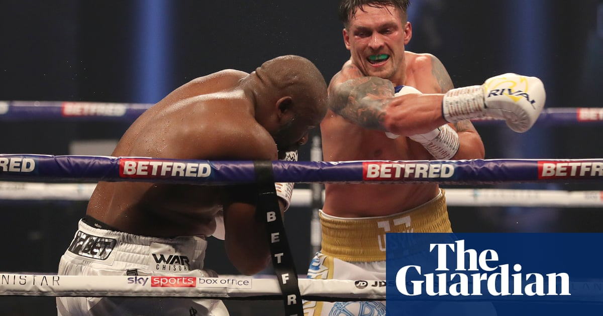 Oleksandr Usyk insists pressure is all on reigning champion Anthony Joshua
