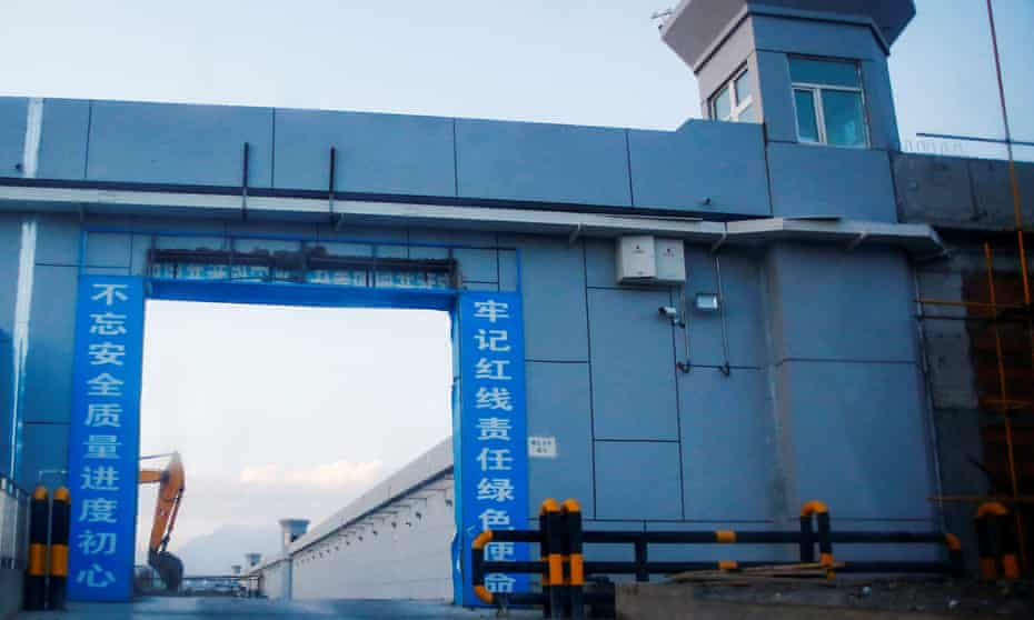 A gate of what is officially known as a 'vocational skills education centre' in Dabancheng, in Xinjiang