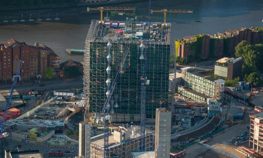The new US embassy being build at Nine Elms on the south side of the Thames