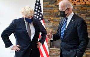 Boris Johnson with Joe Biden.