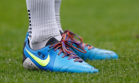 Stonewall's Rainbow Laces campaign will feature at the weekend's games with a number of players wearing them in support of LGBT rights