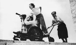 German filmmaker Leni Riefenstahl at the 1936 Berlin Olympics.