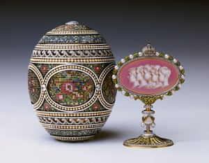 Faberge, Mosaic Egg and Surprise, 1914 Russia: Royalty & the Romanovs at the Royal Collection Trust