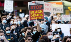 Black lives matter protesters in Sydney