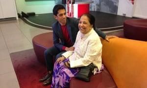 Aditya Chakrabortty with his mother