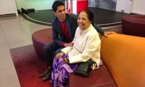 Aditya Chakrabortty with his mother. 'My mother isn't a complainer and this isn't a hard-luck story. I'm telling it to underline the fact that migrants and their children can never fit in enough.'