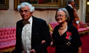 Lady Hale with husband Julian Farrand at Buckingham Palace.