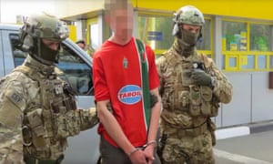 An SBU video showed the moment of arrest on the border with Poland.