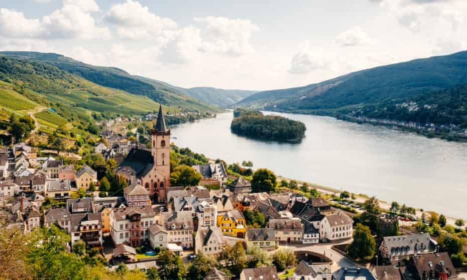 The Rhine in Germany at Lorch.