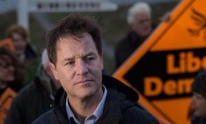Nick Clegg hosting Lib Dem campaign rally at Land's End, Cornwall