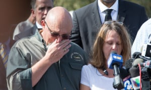 Pastor Frank Pomeroy and his wife Sherri speak at a press conference on Monday. The couple's 14-year-old daughter Annabelle died in the attack.