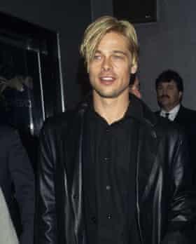 Leather blazer: Brad Pitt
