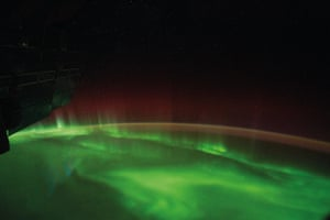 Aurora australis seen from the International Space Station