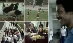 Stills from a film of West Bromwich Albion's tour of China.
