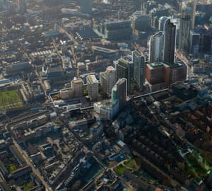 'A phalanx of towers that will cast land to its north in almost permanent shadow': the planned development in Bishopsgate Goodsyard.